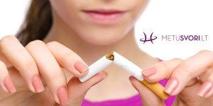 Kaip nepriaugti svorio, kai meti rūkyti?